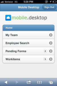 Worklogix Mobile Desktop for HR and Managers